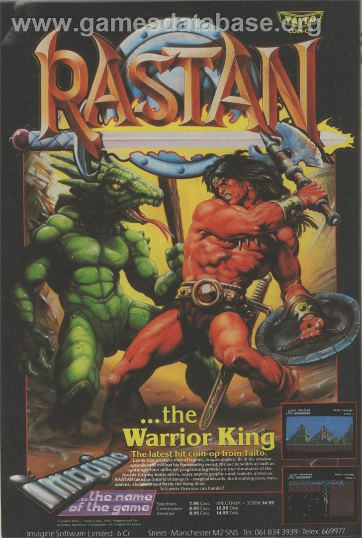 Rastan - Arcade - Artwork - Advert