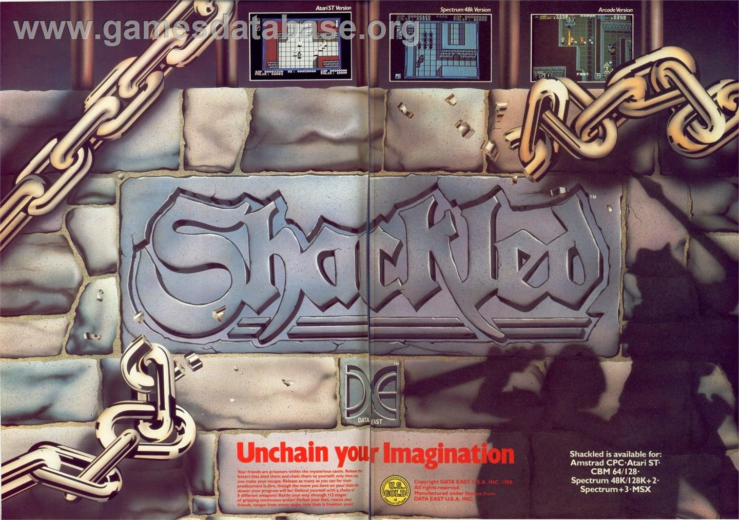 Shackled - Commodore 64 - Artwork - Advert