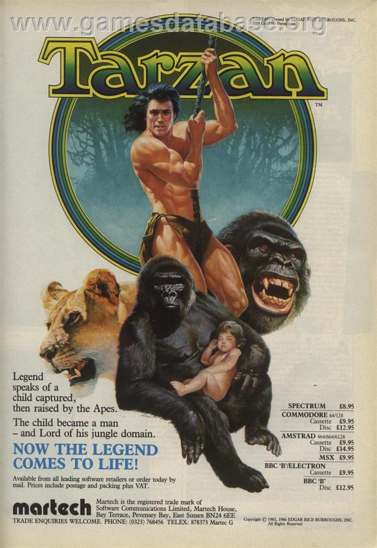Tarzan - Arcade - Artwork - Advert