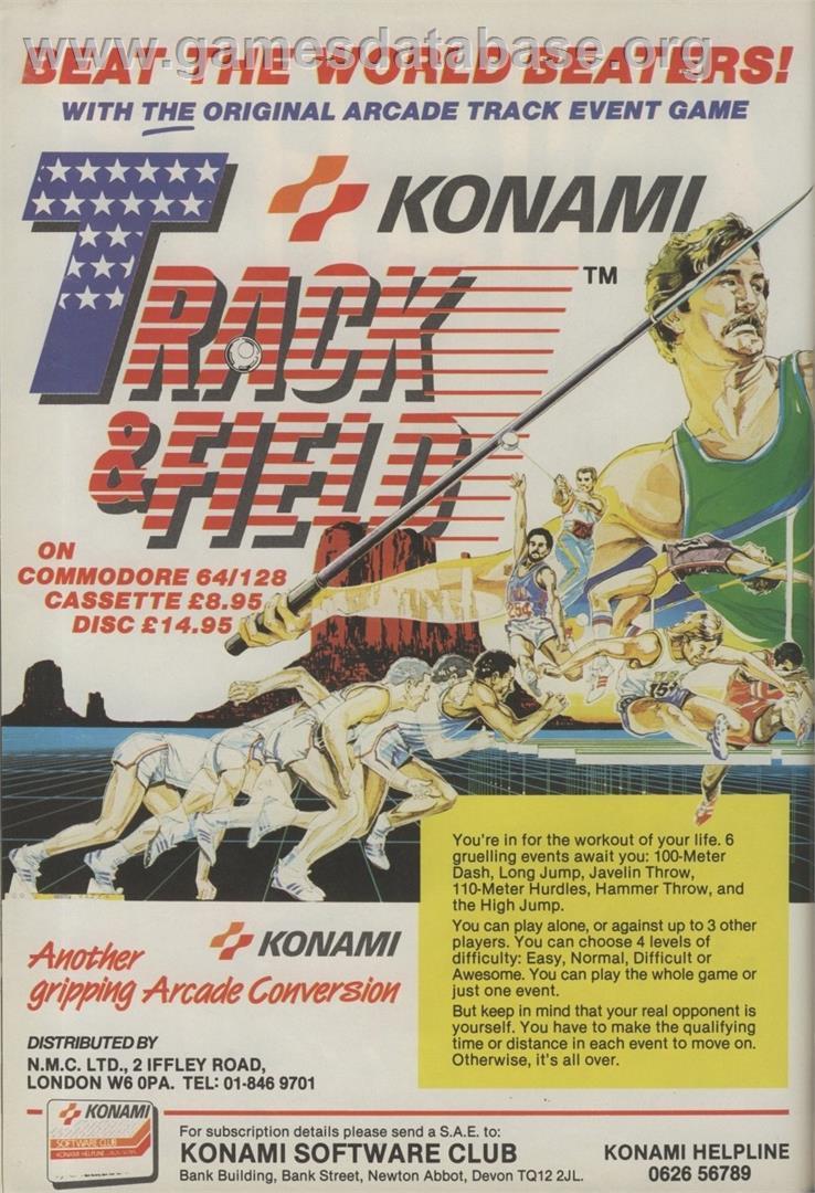 Track & Field - Commodore 64