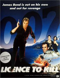 Box cover for 007: Licence to Kill on the Commodore 64.