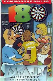 Box cover for 180! Pub Darts on the Commodore 64.