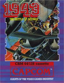 Box cover for 1943: The Battle of Midway on the Commodore 64.
