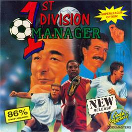 Box cover for 1st Division Manager on the Commodore 64.