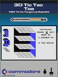 Box cover for 3-D Tic-Tac-Toe on the Commodore 64.