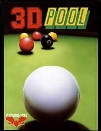 Box cover for 3D Pool on the Commodore 64.