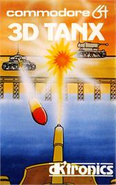 Box cover for 3D Tanx on the Commodore 64.