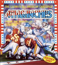 Box cover for 4th & Inches on the Commodore 64.