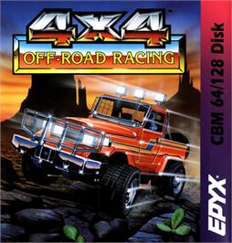 Box cover for 4x4 Off-Road Racing on the Commodore 64.