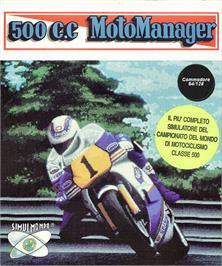 Box cover for 500cc Motomanager on the Commodore 64.