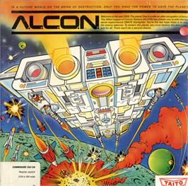 Box cover for A.L.C.O.N. on the Commodore 64.