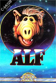 Box cover for ALF: The First Adventure on the Commodore 64.