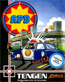 Box cover for APB on the Commodore 64.
