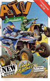 Box cover for ATV Simulator on the Commodore 64.