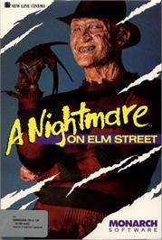Box cover for A Nightmare on Elm Street on the Commodore 64.