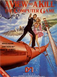 Box cover for A View to a Kill on the Commodore 64.