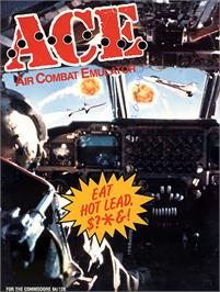 Box cover for Ace: Air Combat Emulator on the Commodore 64.