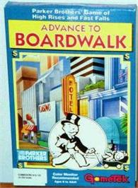 Box cover for Advance to Boardwalk on the Commodore 64.