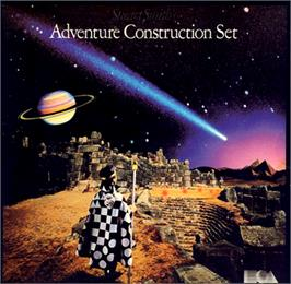 Box cover for Adventure Construction Set on the Commodore 64.