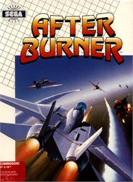 Box cover for After Burner on the Commodore 64.