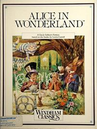 Box cover for Alice in Wonderland on the Commodore 64.