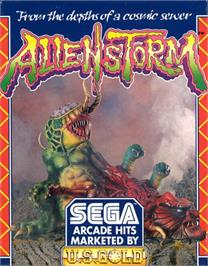 Box cover for Alien Storm on the Commodore 64.