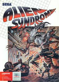 Box cover for Alien Syndrome on the Commodore 64.