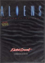 Box cover for Aliens: The Computer Game on the Commodore 64.