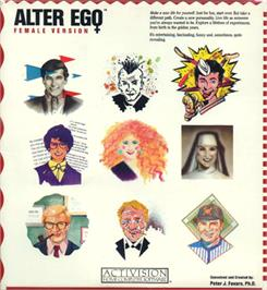 Box cover for Alter Ego: Female Version on the Commodore 64.