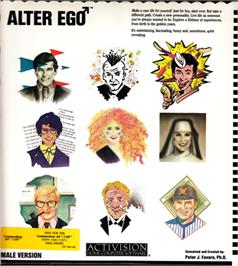 Box cover for Alter Ego: Male Version on the Commodore 64.