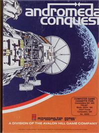 Box cover for Andromeda Conquest on the Commodore 64.