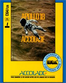 Box cover for Apollo 18: Mission to the Moon on the Commodore 64.