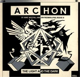Box cover for Archon: The Light and the Dark on the Commodore 64.