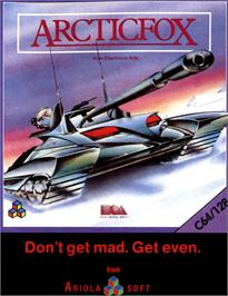 Box cover for Arcticfox on the Commodore 64.