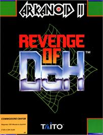 Box cover for Arkanoid 2: Revenge of Doh on the Commodore 64.