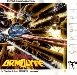 Box cover for Armalyte on the Commodore 64.