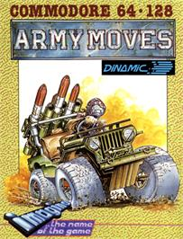Box cover for Army Moves on the Commodore 64.
