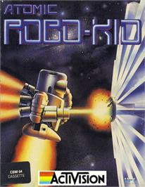 Box cover for Atomic Robo-Kid on the Commodore 64.