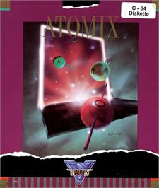 Box cover for Atomix on the Commodore 64.