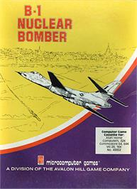 Box cover for B-1 Nuclear Bomber on the Commodore 64.