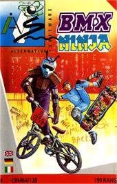 Box cover for BMX Ninja on the Commodore 64.