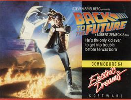 Box cover for Back to the Future on the Commodore 64.