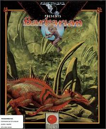 Box cover for Barbarian on the Commodore 64.