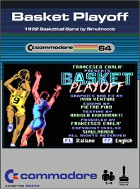 Box cover for Basket Playoff on the Commodore 64.