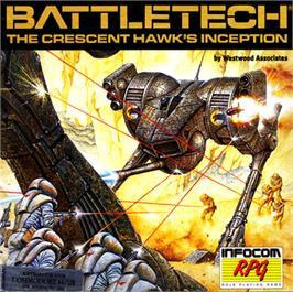 Box cover for BattleTech: The Crescent Hawk's Inception on the Commodore 64.