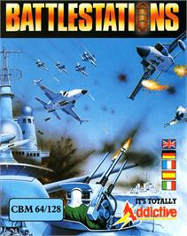 Box cover for Battle Stations on the Commodore 64.