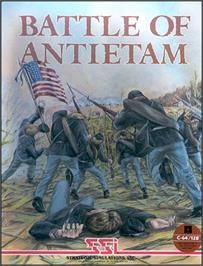 Box cover for Battle of Antietam on the Commodore 64.
