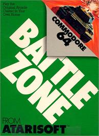 Box cover for Battlezone on the Commodore 64.