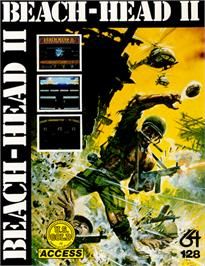 Box cover for Beach Head II: The Dictator Strikes Back! on the Commodore 64.