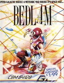 Box cover for Bedlam on the Commodore 64.